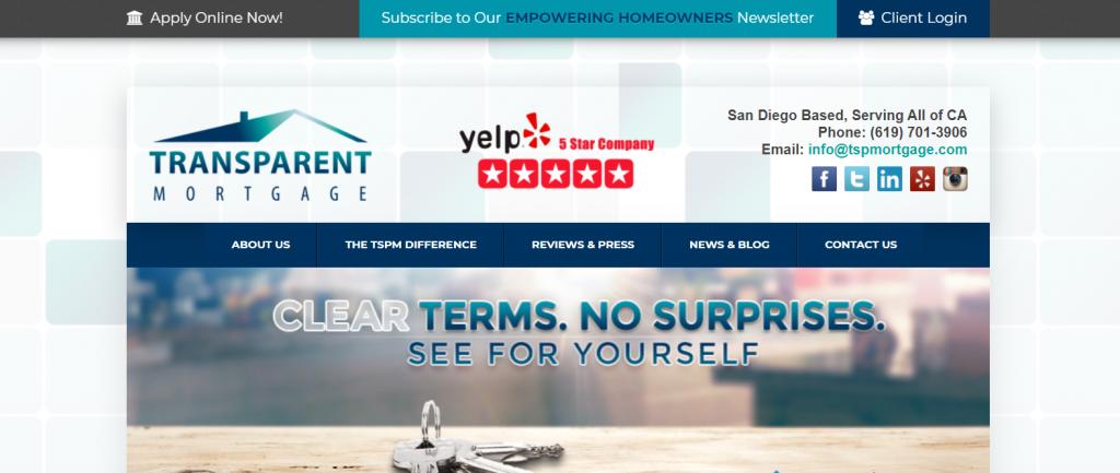 transparent mortgage